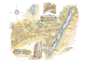 Sketch map of Invergarry