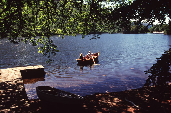 Rowing boats on Loch Oich